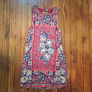 URBAN OUTFITTERS Ecote Shift Dress Coral Floral XS